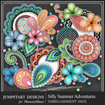 Silly Summer Adventures Spare Parts Pack-$3.99 (Jumpstart Designs)