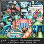 Silly Summer Adventures Add On Emb Pack-$4.99 (Jumpstart Designs)