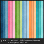 Silly Summer Adventures Plain Paper Pack-$2.99 (Jumpstart Designs)