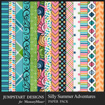 Silly Summer Adventures Pattern Paper Pack-$3.99 (Jumpstart Designs)