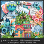 Silly Summer Adventures Embellishment Pack-$4.99 (Jumpstart Designs)