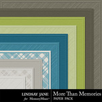 More Than Memories Embossed Paper Pack-$1.40 (Lindsay Jane)