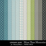 More Than Memories Patterned Paper Pack-$1.99 (Lindsay Jane)