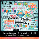 Sunnyside of Life WordArt Pack-$3.99 (Fayette Designs)