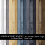 Lifes Journey Never Forget Solids Paper Pack-$2.99 (Laura Burger)