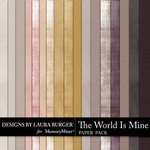 The World is Mine Cardstock Paper Pack-$2.99 (Laura Burger)