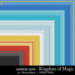 Kingdom of Magic Embossed Paper Pack-$1.99 (Lindsay Jane)