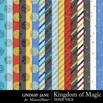 Kingdom of Magic Glitter Paper Pack-$1.99 (Lindsay Jane)