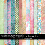 Garden of Life Grunge Paper Pack-$1.75 (Laura Burger)