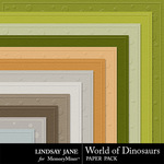 World of Dinosaurs Embossed Paper Pack-$1.99 (Lindsay Jane)