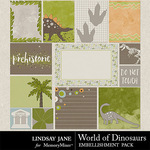 World of Dinosaurs Journal Cards-$1.99 (Lindsay Jane)