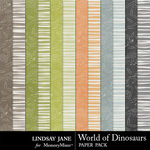 World of Dinosaurs Extra Paper Pack-$1.99 (Lindsay Jane)