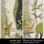 World of Dinosaurs Borders Pack-$1.99 (Lindsay Jane)