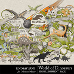 World of Dinosaurs Embellishment Pack-$3.49 (Lindsay Jane)