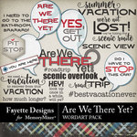Are We There Yet WordArt Pack-$2.99 (Fayette Designs)