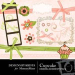 Cupcake Embellishment Pack-$3.00 (Designs by Krista)