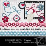 Enjoy Embellishment Pack-$3.00 (Designs by Krista)