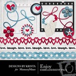 Enjoy Embellishment Pack-$3.00 (Designs by Krista)