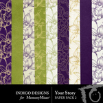 Your Story Paper Pack Two-$2.10 (Indigo Designs)