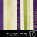 Your Story Paper Pack One-$2.10 (Indigo Designs)
