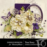 Your Story Embellishment Pack-$2.10 (Indigo Designs)