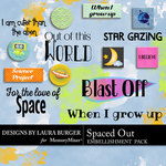 Spaced Out WordArt Pack-$1.75 (Laura Burger)