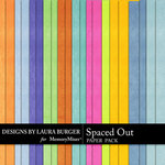 Spaced Out Solid Paper Pack-$2.45 (Laura Burger)