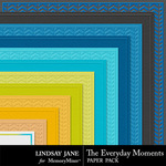The Everyday Moments Embossed PP-$1.40 (Lindsay Jane)