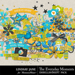 The Everyday Moments Embellishments-$2.45 (Lindsay Jane)