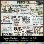 Music in Me FD WordArt Pack-$3.99 (Fayette Designs)