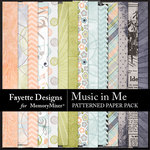 Music in Me FD Patterned Paper Pack-$3.99 (Fayette Designs)