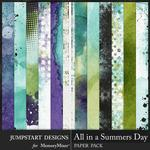All in a Summers Day Blended Paper-$3.99 (Jumpstart Designs)