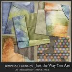 Just the Way You Are Cardboard Paper Pack-$3.99 (Jumpstart Designs)