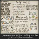 Just the Way You Are WordArt Pack-$2.99 (Jumpstart Designs)