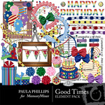 Good TImes Embellishment Pack-$3.50 (Paula Phillips)
