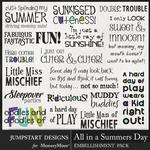 All in a Summers Day WordArt Pack-$3.99 (Jumpstart Designs)