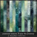 Enjoy the Journey Artsy Paper Pack-$3.99 (Jumpstart Designs)