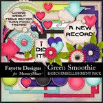 Green Smoothie Basic Embellishment-$3.99 (Fayette Designs)