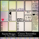 Green Smoothie Word Frames Pack-$3.49 (Fayette Designs)