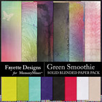 Green Smoothie Solid Blended Paper-$3.99 (Fayette Designs)