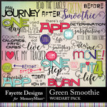 Green Smoothie WordArt Pack-$3.99 (Fayette Designs)