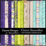 Green Smoothie Patterned Paper Pack-$3.99 (Fayette Designs)