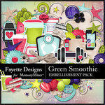Green Smoothie Embellishment Pack-$3.99 (Fayette Designs)