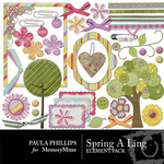 Spring A Ling Embellishment Pack-$3.00 (Paula Phillips)