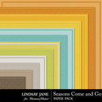 Seasons Come and Go Embossed Paper Pack-$1.99 (Lindsay Jane)