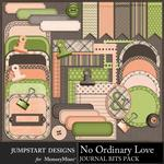 No Ordinary Love Journal Bits Pack-$3.99 (Jumpstart Designs)