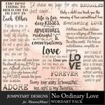 No Ordinary Love WordArt Pack-$3.99 (Jumpstart Designs)
