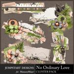 No Ordinary Love Clusters Pack-$2.99 (Jumpstart Designs)