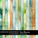 Sea Breeze LB Grunge Blends Paper Pack-$3.99 (Laura Burger)