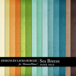 Sea Breeze LB Solid Paper Pack-$3.99 (Laura Burger)